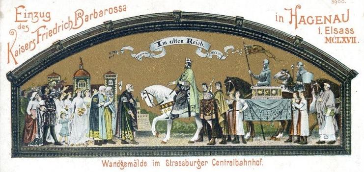 Banhof Straßburg - Kayser Friedrich Barbarossa