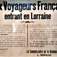 Aux voyageurs français entrant en Lorraine.