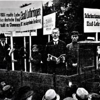 1919 : Manifestations à Berlin contre l'annexion du Land Elsaß-Lothringen