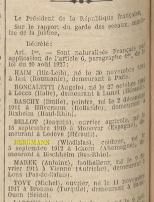 BERGMANN JORF 1938.03.13