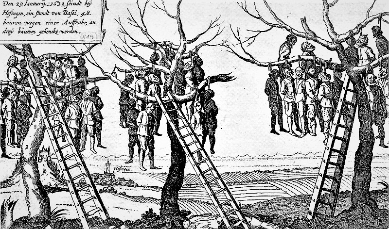 1633 : Pendaison de paysans du Sundgau par les Suédois alliés des Français